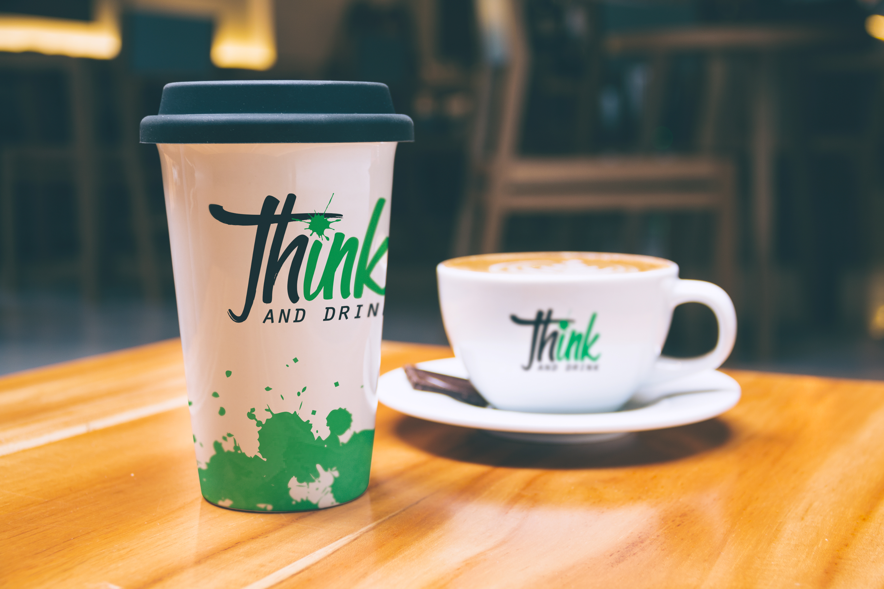 Think Ink and Drink cup design